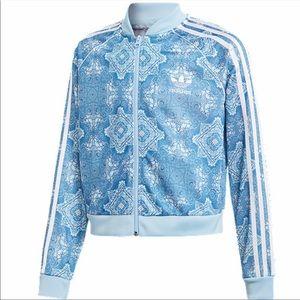 Adidas Originals Track Jacket Blue Printed M